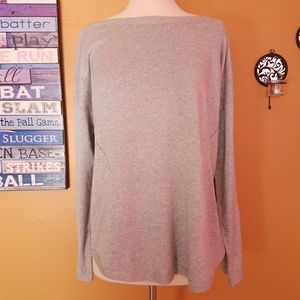 Talbots Sweaters - Talbots gray silver oversized Xl sweater knitted c03244ff8